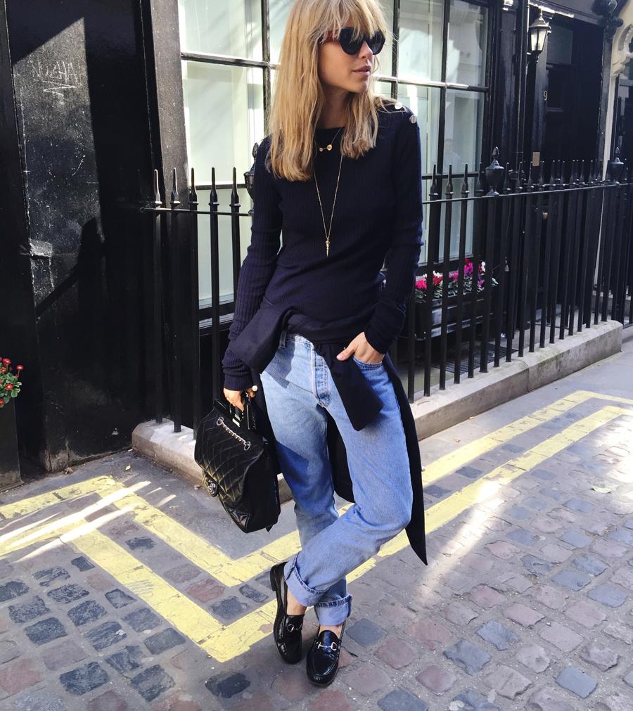 pernille teisbaek streetstyle denim jeans