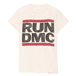 MADEWORN RUN DMC DISTRESSED PRINTED COTTON JERSEY TSHIRT $208