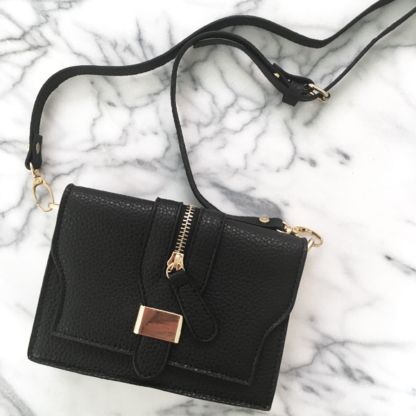The Vault Cleo Black Clutch