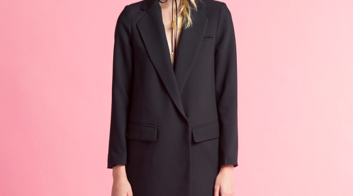 SINGLE SUIT COAT DRESS BLACK